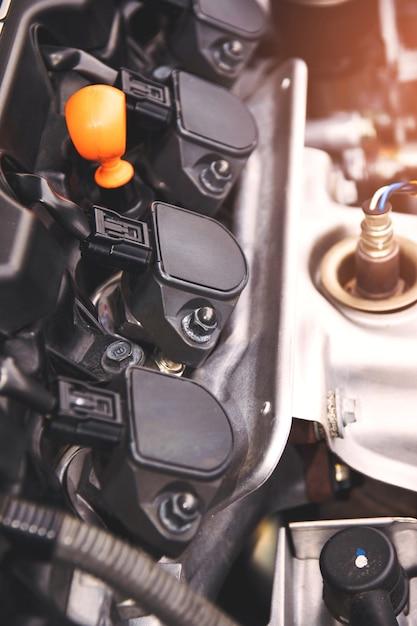 Un motore a combustione interna o un motore elettrico e in grado di trasportare un piccolo numero. Foto Premium