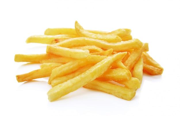 Un mucchio delle patate fritte isolato Foto Premium