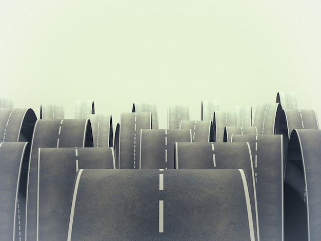 Una strada difficile Foto Premium