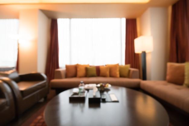 Unfocused soggiorno con tavolo e divani | Scaricare foto gratis