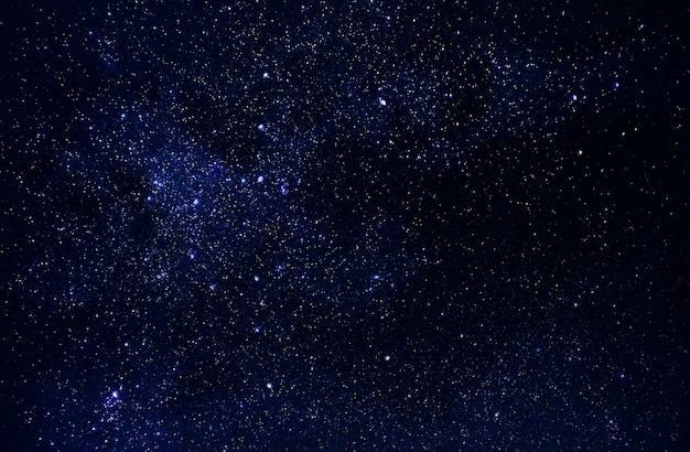 Universo Nello Spazio Cielo E Stelle Nel Tempo Notturno Via