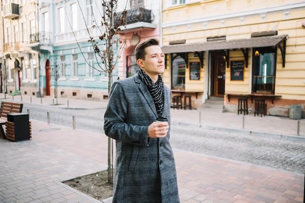 Uomo affari, camminare Foto Gratuite
