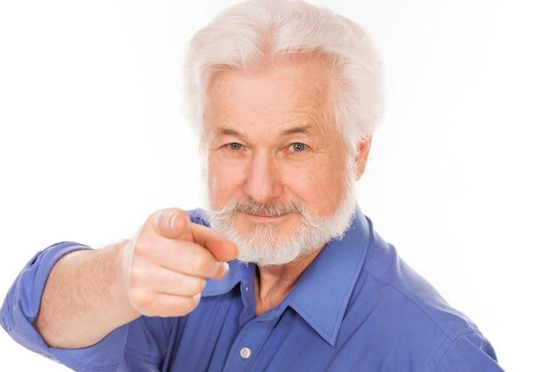 Uomo anziano bello con la barba Foto Gratuite
