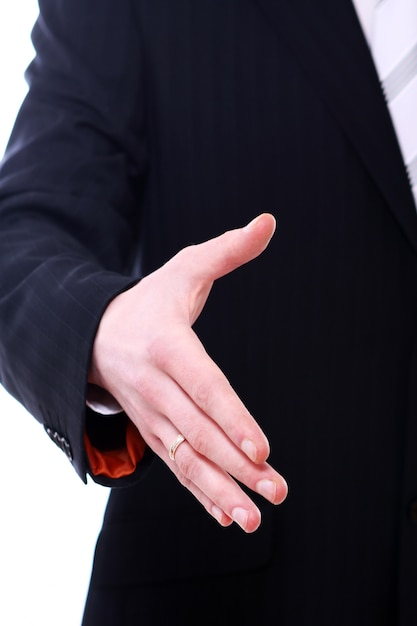 Uomo d'affari che dà la sua mano per la stretta di mano Foto Gratuite