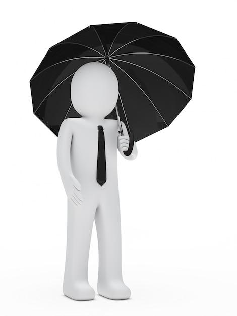 Uomo d'affari con un ombrello Foto Gratuite