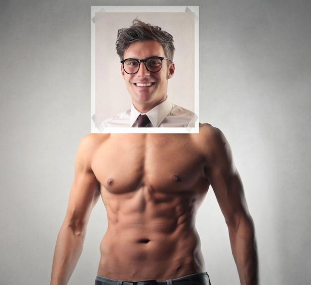 Uomo d'affari o muscoloso sportivo Foto Premium