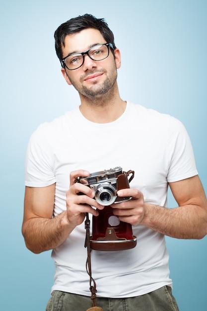 Uomo di fotografia Foto Premium