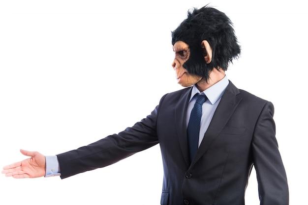 Uomo di scimmia fare un affare Foto Gratuite