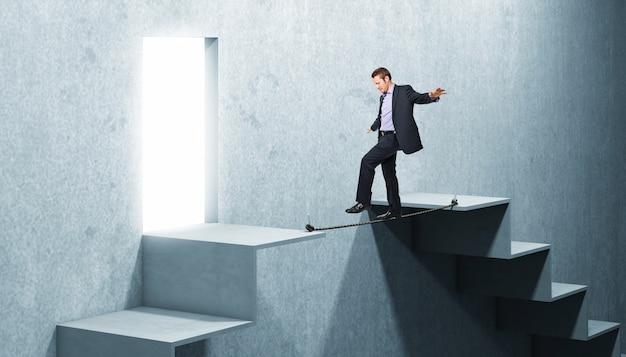Uomo sulla corda Foto Premium