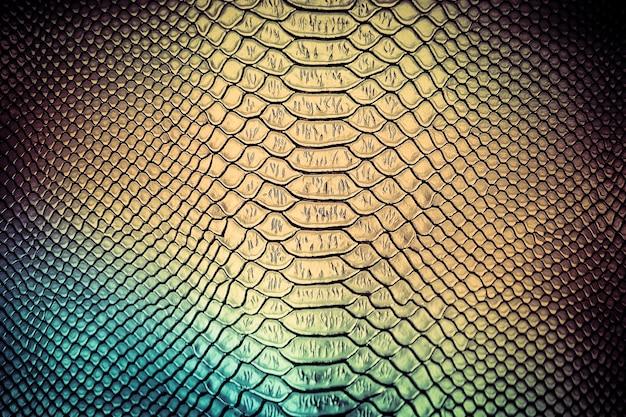 Uso di texture di pelle di serpente di lusso per lo sfondo Foto Premium