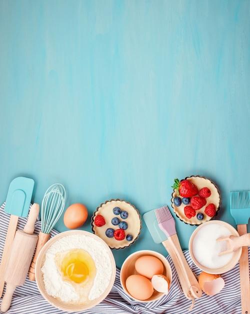 Utensili da cottura, ingredienti da cucina Foto Premium