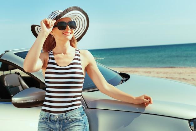 Vacanze estive in auto Foto Premium