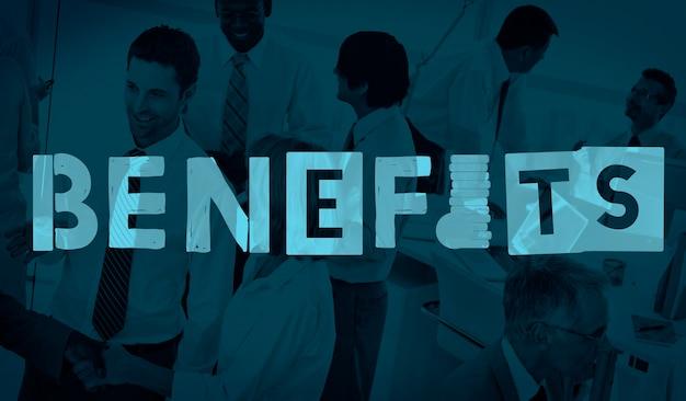 Vantaggi vantaggio concetto di indennità bonus Foto Gratuite