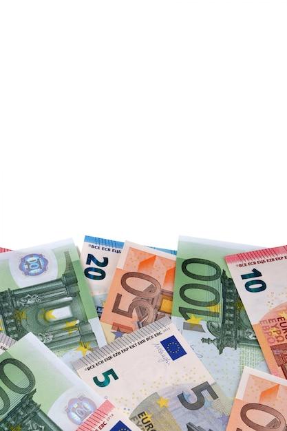 Varie diverse fatture in euro con copyspace Foto Premium