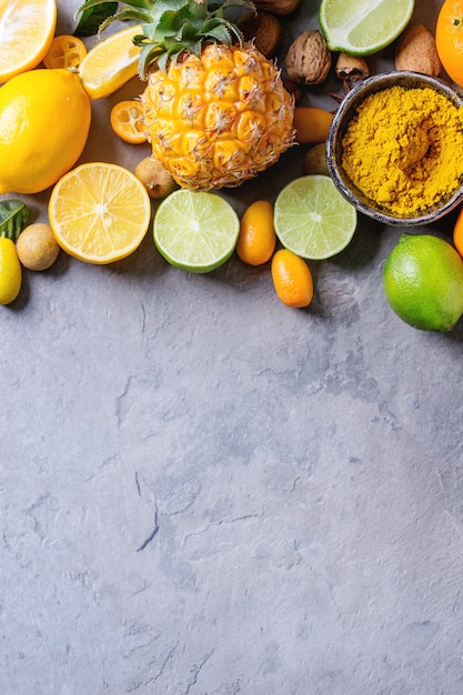 Varietà di agrumi Foto Premium