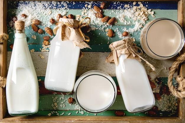 Varietà di latte non caseario Foto Premium