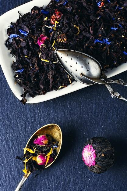 Varietà di tè Foto Premium