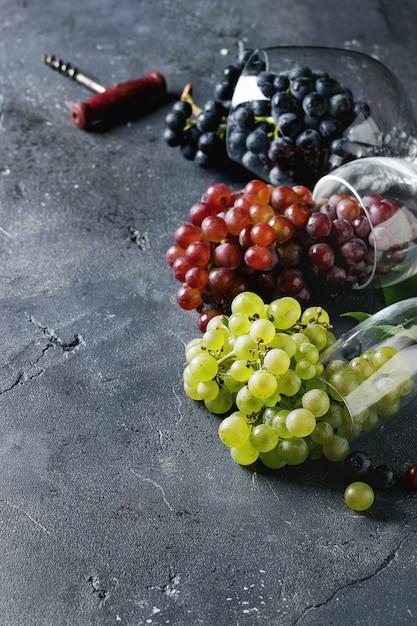 Varietà di uva Foto Premium