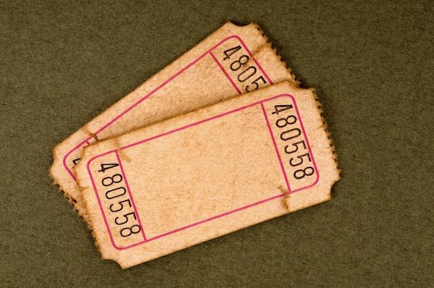Vecchi biglietti vuoti Foto Premium