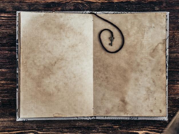 Vecchia carta d'epoca su fondo in legno. copia spazio Foto Premium