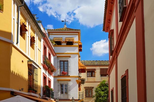 Vecchia città di sevilla vicino a calle agua vida st spagna Foto Premium