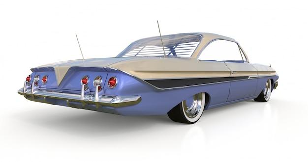 Vecchia macchina americana in ottime condizioni. rendering 3d. Foto Premium