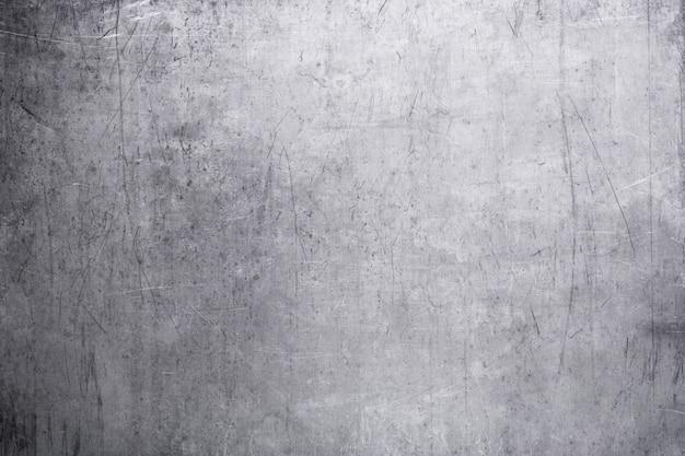 Vecchia piastra metallica, la trama del primo piano d'acciaio Foto Premium