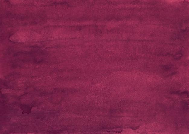Vecchia pittura cremisi del fondo dell'acquerello. aquarelle rosa intenso. texture dipinta a mano vintage. Foto Premium