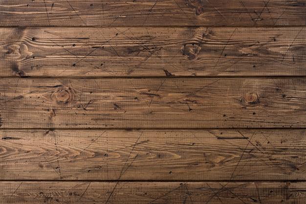 Vecchia struttura di legno marrone stagionata delle plance Foto Premium