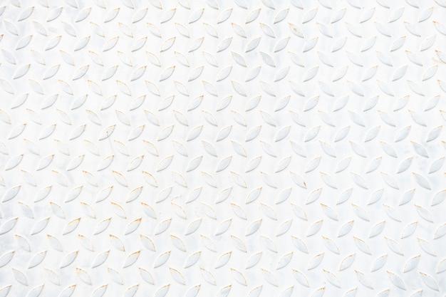 Vecchia struttura e fondo della zolla di pavimento del metallo bianco. copia vuota di riserva. Foto Premium