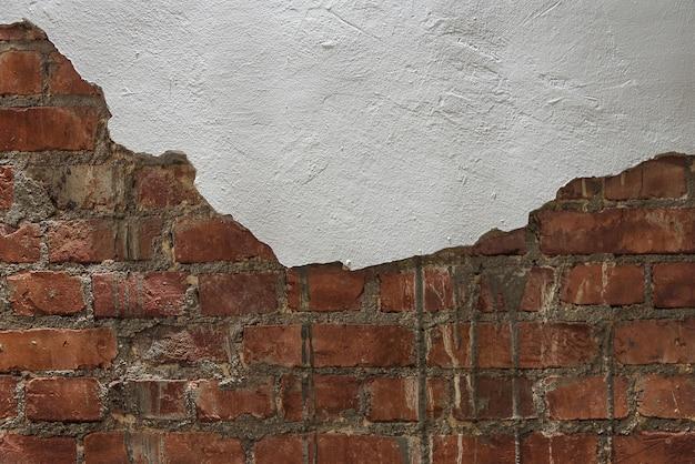 Vecchia struttura vuota del muro di mattoni. banner web astratta. copia spazio. Foto Premium