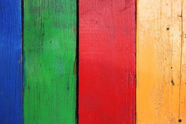 Vecchia tavola di legno multicolor Foto Premium