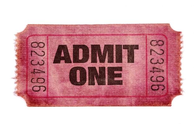 Vecchio ammettere un biglietto del cinema Foto Gratuite