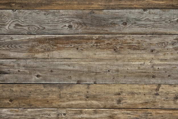 Vecchio fondo di legno scuro naturale sbiadito del pino smussato Foto Gratuite