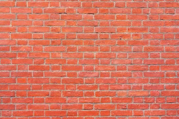 Vecchio fondo strutturato del muro di mattoni rosso d'annata. Foto Premium