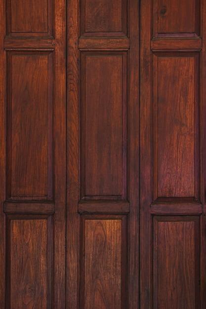Vecchio legno antico marrone scuro Foto Premium
