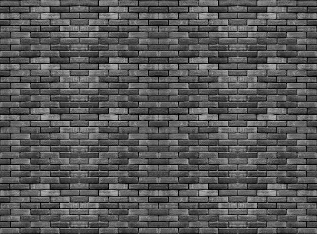 Vecchio mattone nero scuro cemento blocchi pila muro texture di sfondo. Foto Premium