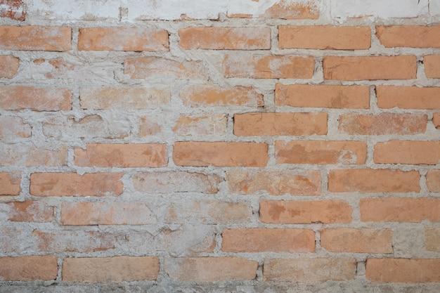 Vecchio muro di mattoni nell'antichità e fu danneggiato Foto Premium