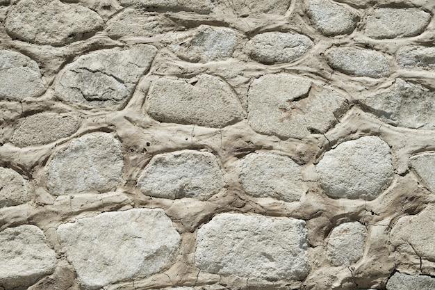 Vecchio primo piano di struttura del fondo della parete di pietra Foto Gratuite