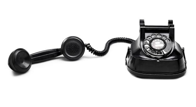 Vecchio quadrante del telefono (tracciato di ritaglio) Foto Premium