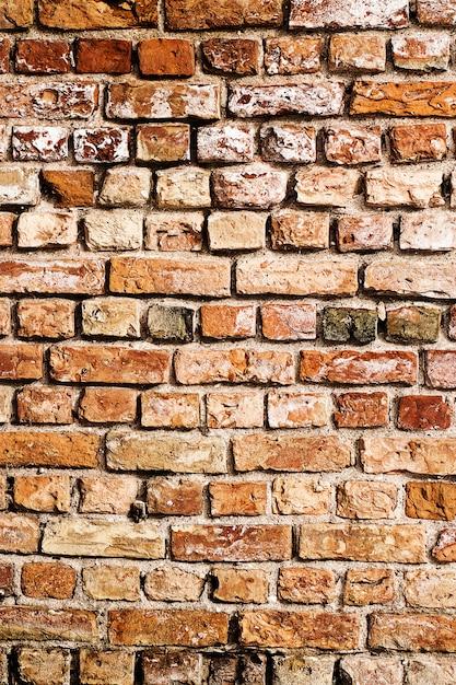 Vecchio sfondo di muro di mattoni Foto Gratuite