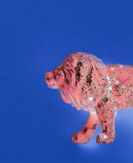 Veduta aerea del leone con effetti Foto Gratuite