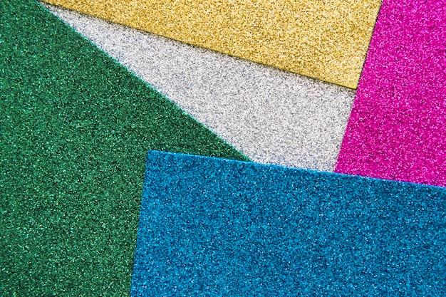 Veduta dall'alto di vari tappeti colorati Foto Gratuite