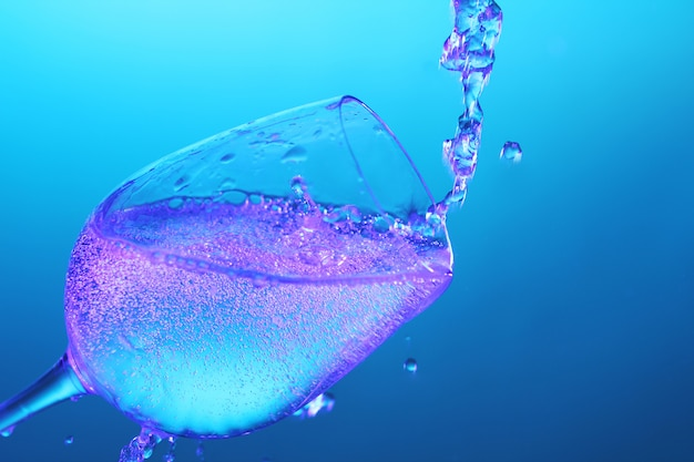 Versare liquido nel bicchiere Foto Gratuite