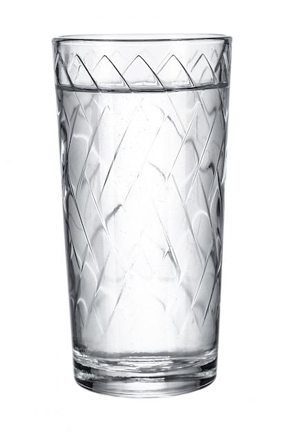 Vetro con acqua dolce su bianco Foto Premium