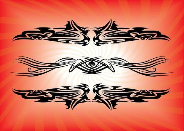 vettore di tatuaggi tribali