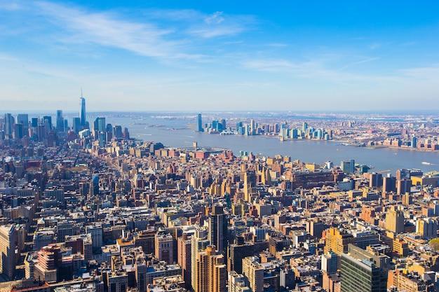 Vew di manhattan dall'empire state building, new york Foto Premium