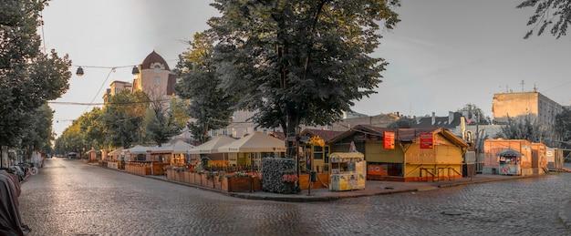 Via deribasovskaya a odessa, ucraina Foto Premium