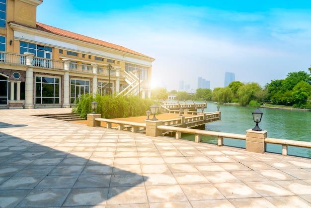 Villa resort in stile architettonico europeo Foto Premium