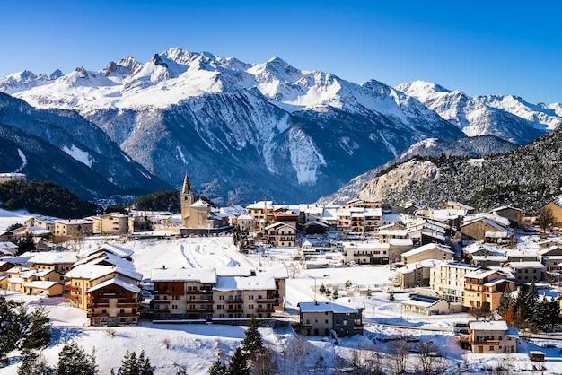 Villaggio aussois francia Foto Premium